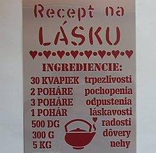 Pomôcky/Nástroje - Šablóna - 20x30 cm - recept na lásku, láska, čajník, srdiečko, srdce - 9758165_