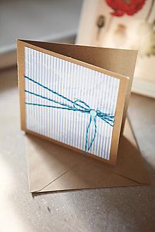 Papiernictvo - Modrobiela pohľadnica - 9759125_
