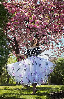 Sukne - sukňa flower organza - 9757208_