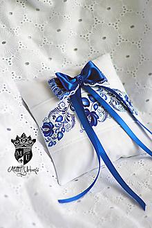 Prstene - svadobný vankúšik na obúčky FOLK - 9757771_