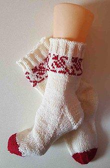 Obuv - Ponožky vlnené folklórne2- z certifikovanej ponožkovej priadze - 9759302_