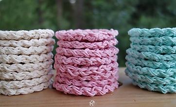 Úžitkový textil - Háčkované odličovacie tampóny  (Ružová) - 9758978_
