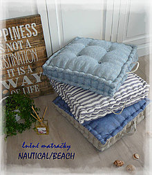 Úžitkový textil - lněná matračka kolekce COASTAL DECOR různé barvy - 9758780_