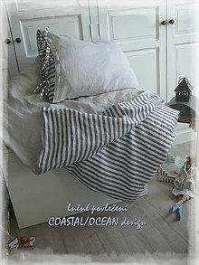 Úžitkový textil - lněné povlečení kolekce COASTAL decor - 9758801_