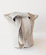 Kabelky - Obojstranný batôžtek uzlíková taška - 9759582_