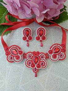 Sady šperkov - Sujtášový náhrdelník + náušnice