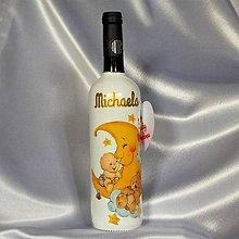 Nádoby - Fľaša ku krstu Michaela - 9758391_