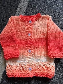 Detské oblečenie - pomarančový svetrík pre bábätko - 9757375_