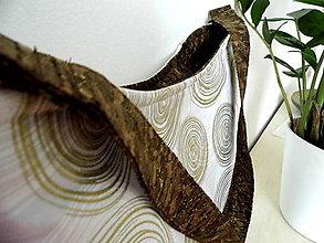 Veľké tašky - Kabelka korok v zlatom - 9759570_