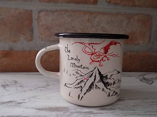 Smaltovaný hrnček - The Lonely Mountain