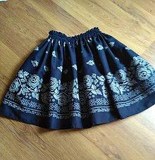 Sukne - Dievčenská sukňa bordura - 9758001_