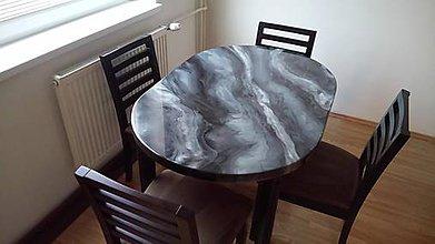 Nábytok - Jedálenský stôl z epoxidovej živice - 9759484_