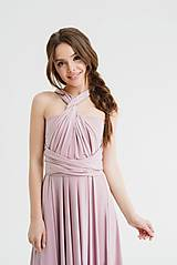 Šaty - Maxi šaty TRANSFORMERS, svadobná ružová - 9758718_
