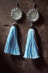 Náušnice - Náušnice modré svetlé - 9759483_