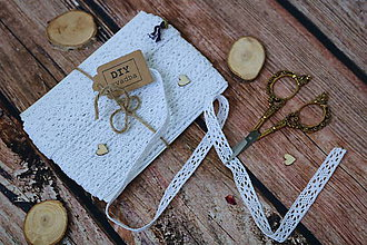 Galantéria - Biela bavlnená čipka - Pôvab jednoduchosti - 9759387_