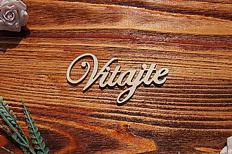 Tabuľky - Vitajte - drevený výrez - 9759697_