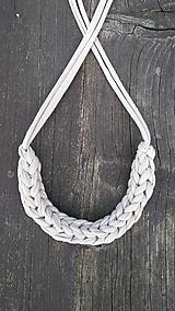 Náhrdelníky - Pletený náhrdelník - 9758873_