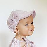 Detské čiapky - Letná šiltovka Violet - 9759375_