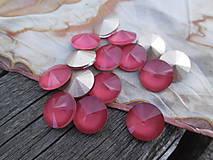 - Sklenené rivolky 12 mm (Červená) - 9758399_