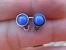 - Náušnicové puzety - Mini (Modrá) - 9759135_
