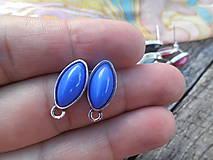 - Náušnicové puzety - Lodičky (Modrá) - 9759174_