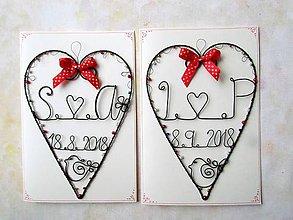 Papiernictvo - svadobná pohľadnica (Červená) - 9757243_