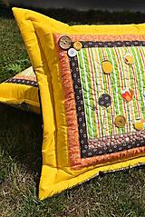 Úžitkový textil - Vankúš - divé kvety - ART prevedenie - 9757828_