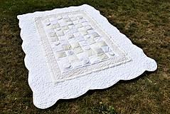 Úžitkový textil - V krajine zázrakov...béžovo- biele prevedenie...:))) - 9758138_