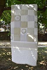Úžitkový textil - V krajine zázrakov...béžovo- biele prevedenie...:))) - 9758151_