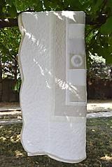 Úžitkový textil - V krajine zázrakov...béžovo- biele prevedenie...:))) - 9758152_