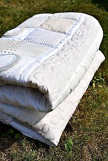 Úžitkový textil - V krajine zázrakov...béžovo- biele prevedenie...:))) - 9758144_