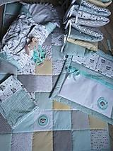 Textil - Súprava do postieľky veľká - indiánsky macko - 9760234_