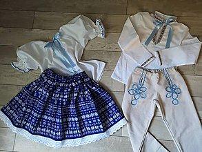 Detské súpravy - Ľudové odevy detské - chlapec +dievča - 9760204_