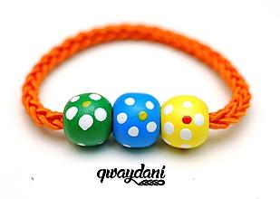 Ozdoby do vlasov - GUMIČKA Simple Style (oranžová) - 9759968_