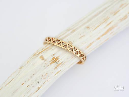 4504dc91d 14k zlatý prsteň srdiečka (žlté zlato) / soamijewelry - SAShE.sk ...