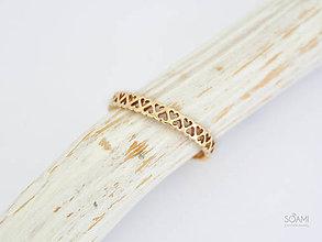 Prstene - 585/1000 zlatý prsteň srdiečka - 9761369_