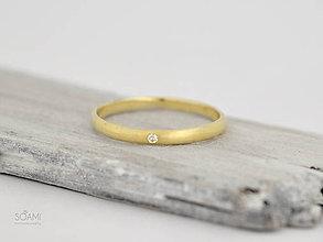 Prstene - 585/14k zlatý zásnubný prsteň s diamantom - 9761418_