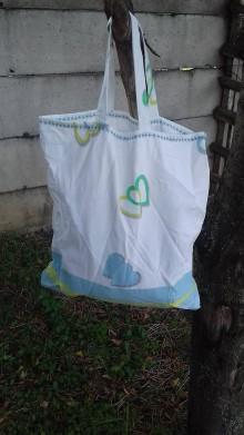 Nákupné tašky - Srdiečková nákupná taška - 9761534_