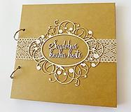 Papiernictvo - svadobná kniha hostí - 9760407_