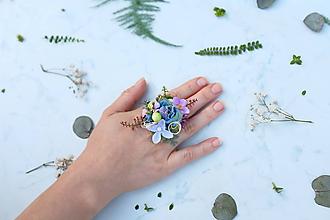 Prstene - Kvetinový prsteň - 9761500_