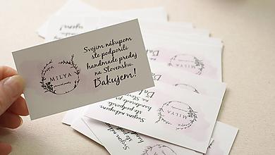 Nezaradené - Štítky a visačky, ďakovné kartičky 300ks - 9760470_
