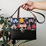 - Kožená kabelka (ručne maľovaná kabelka Beetle) - 9760452_