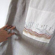 Šaty - VLNĚNÍ - lněné šaty s výšivkou - 9762090_