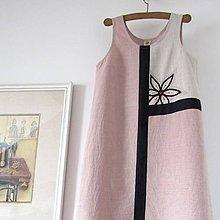Šaty - TEMNÝ KVĚT - lněné šaty s výšivkou - 9762360_