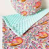 Textil - detská deka zasnívané líšky - 9761425_