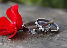 Prstene - Obrúčky z kôry, patinované - 9760558_