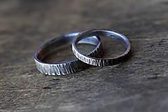 Prstene - Obrúčky z kôry, patinované - 9760562_