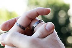 Prstene - Obrúčky z kôry, patinované - 9760563_