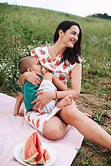 Šaty - Šaty na dojčenie Watermelon Bite - 9761662_