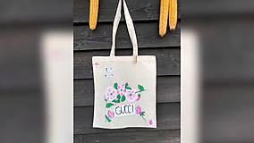 Nákupné tašky - ♥ Plátená, ručne maľovaná taška ♥ - 9760440_